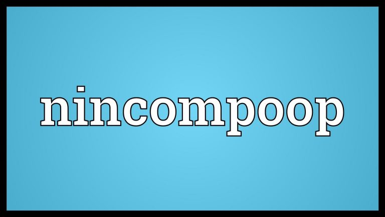 What is the Cost of a Nincompoop?