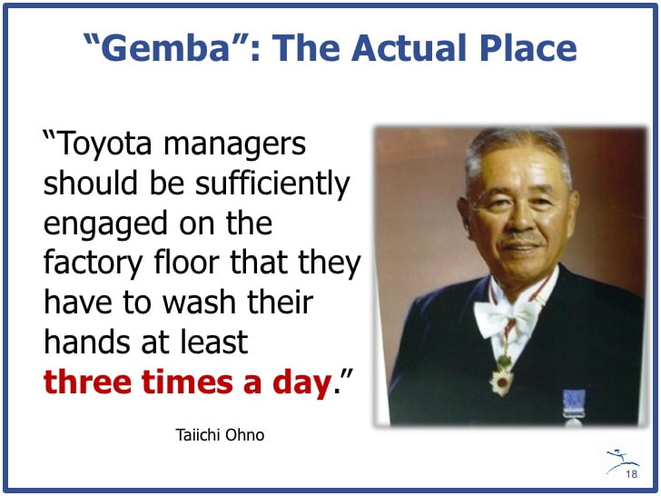 Taiichi Ohno quote; from Mark Graban's slideshare