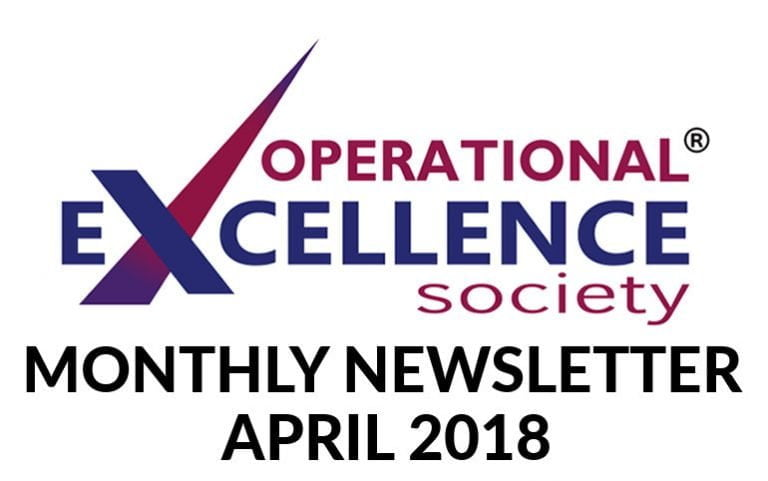 Operational Excellence by Design eNewsletter – April 2018