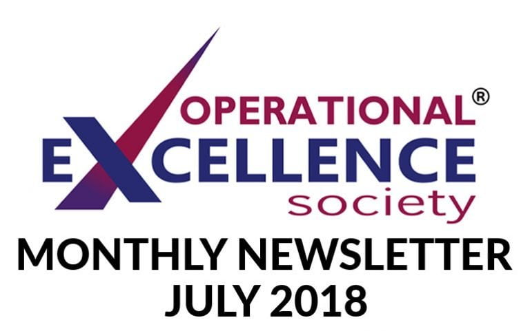 Operational Excellence by Design eNewsletter – July 2018