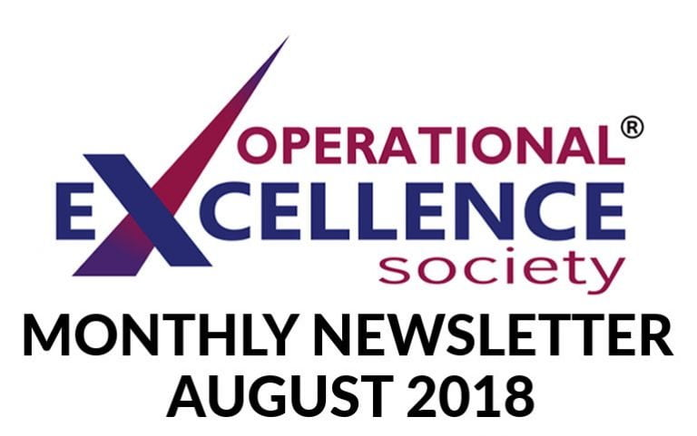 Operational Excellence by Design eNewsletter – August 2018