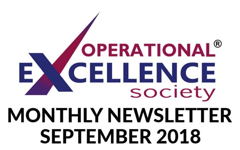 Operational Excellence by Design eNewsletter – September 2018
