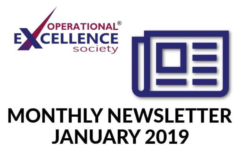 Operational Excellence by Design eNewsletter – January 2019