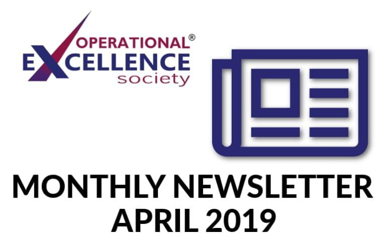 Operational Excellence by Design eNewsletter – April 2019