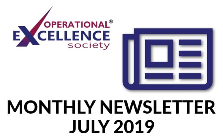 Operational Excellence by Design eNewsletter – July 2019