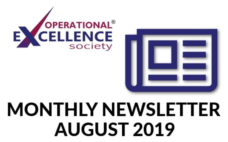 Operational Excellence by Design eNewsletter – August 2019