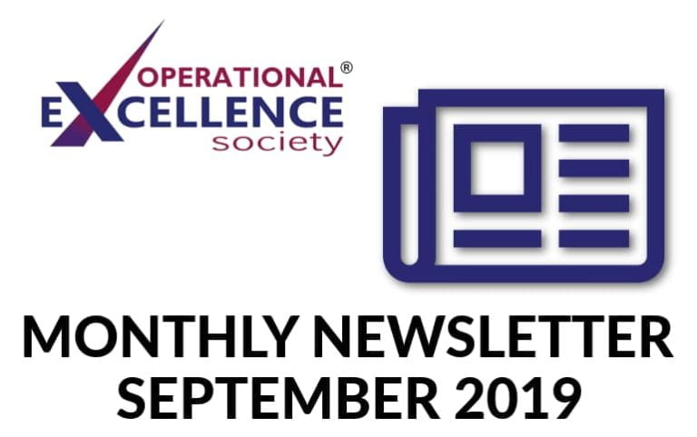 Operational Excellence by Design eNewsletter – September 2019