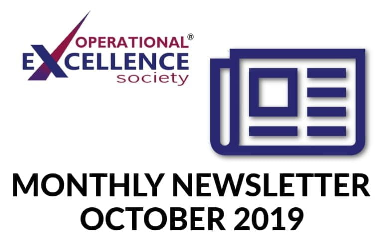 Operational Excellence by Design eNewsletter – October 2019
