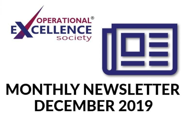 Operational Excellence by Design eNewsletter – December 2019