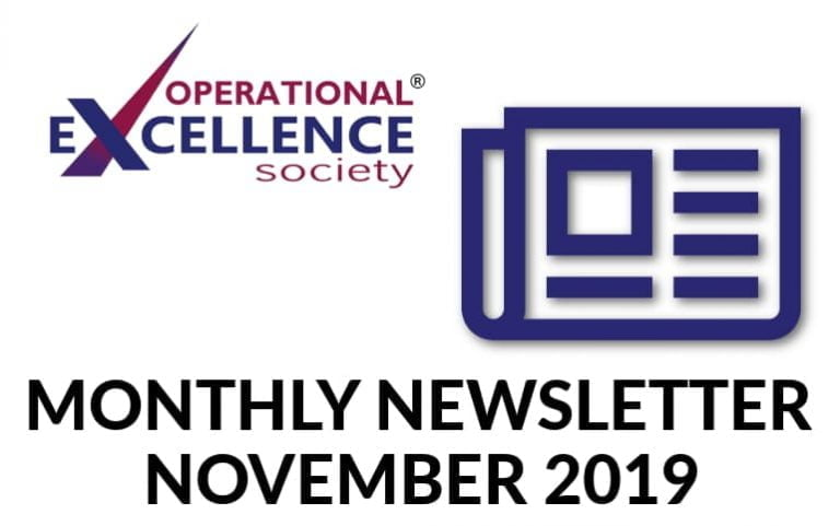 Operational Excellence by Design eNewsletter – November 2019