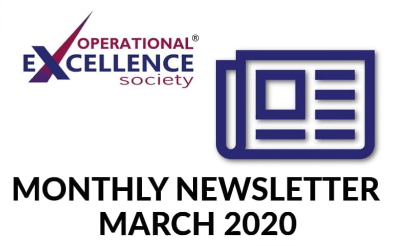 Operational Excellence by Design eNewsletter – March 2020