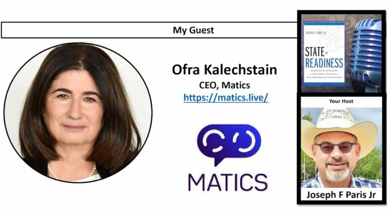 State of Readiness; Ofra Kalechstain, CEO of Matics